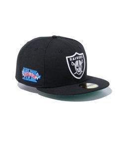 ニューエラ(NEW ERA)帽子 59FIFTY NFL CS オークランドレイダース スーパーボウル エンブレム グリーンアンダーバイザー 12326408…