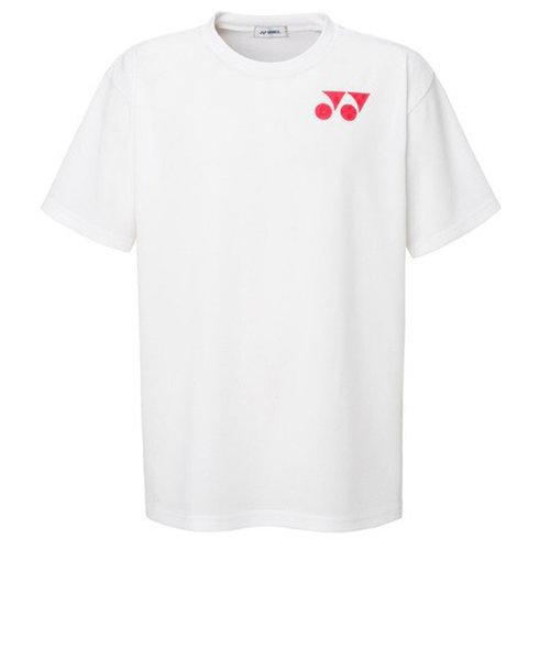 ヨネックス(YONEX)テニスウェア Tシャツ メンズ RWX20001-011 半袖 吸汗速乾 ワンポイントロゴ ホワイト