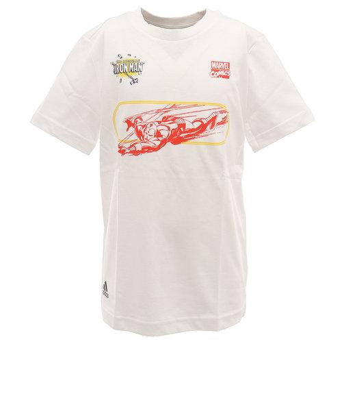 アディダス(adidas)Tシャツ 半袖 ボーイズ MARVEL IRON MAN GUW20-FM3730 オンライン価格