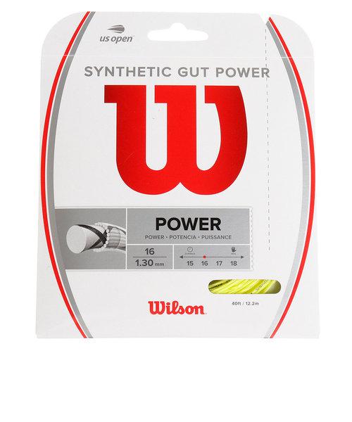ウイルソン(WILLSON)硬式テニスストリングス SYNTHETIC GUT POWER 16 Yellow WR830130416