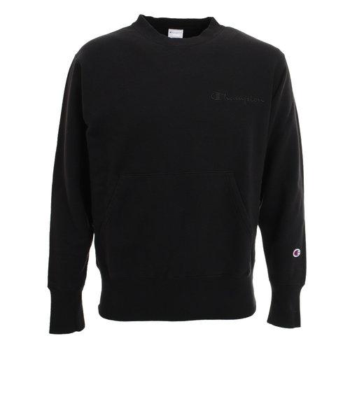 チャンピオン-ヘリテイジ(CHAMPION-HERITAGE)ポケット付き クルーネックスウェットシャツ C8-S044 090