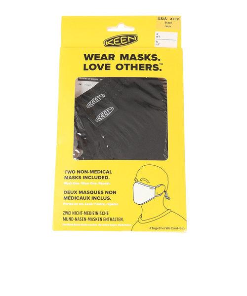 キーン(KEEN)アウトドア TOGETHER マスク 洗えるマスク 2枚セット ブラック 1025260