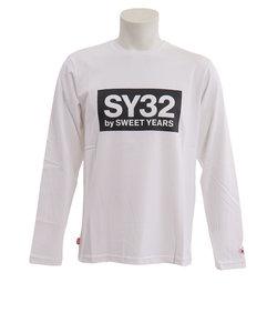 BOX LOGO 長袖Tシャツ 7123WHT