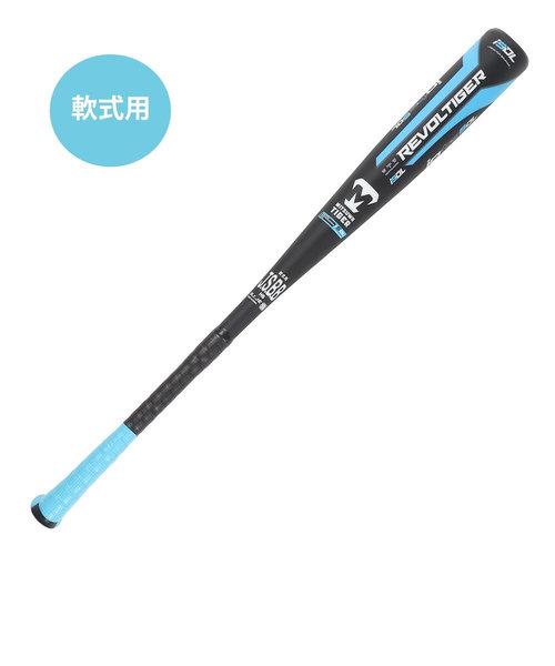 美津和タイガー(mitsuwa-tiger)野球 軟式 バット レボルタイガー イオタ ハイパーウィップ スーパーダブルレイヤー 83cm/平均700g RB…