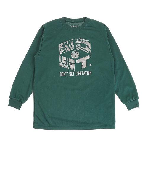 エックスティーエス(XTS)ジュニア ドライプラス 長袖Tシャツ 751G0ES1644 GRN