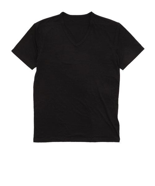 ヒートクロス 薄手半袖Vネックシャツ 891PA9ES5055BLK