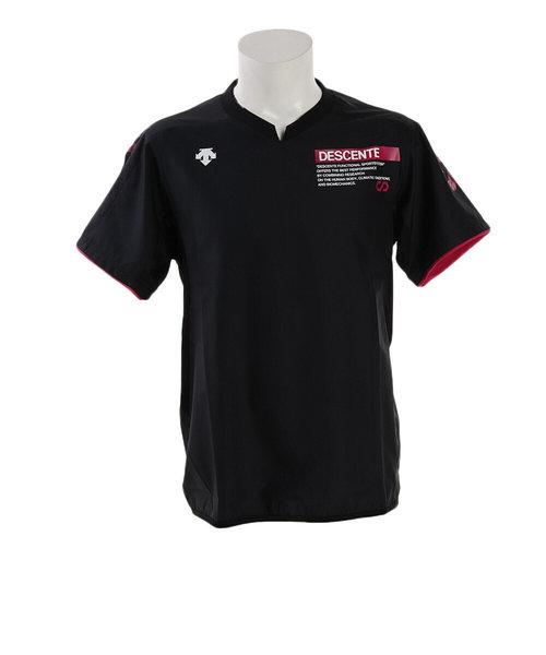デサント(DESCENTE)半袖プラクティスピステ DVUOJK32 BKBK バレーボールウェア スポーツウェア