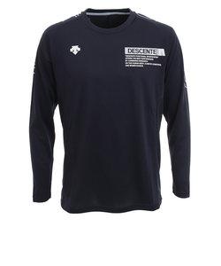 デサント(DESCENTE)長袖プラクティスシャツ DVUQJB51 NVSV バレーボールウェア スポーツウェア