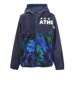 アスレタ(ATHLETA)サッカー ジュニア ウェア ストレッチトレーニングジャケット 4142J 青