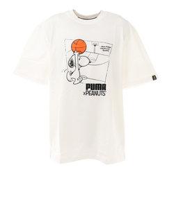 プーマ(PUMA)PEANUTS 半袖Tシャツ 530616 02 WHT