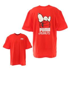プーマ(PUMA)PEANUTS 半袖Tシャツ 530616 11 RED