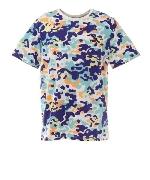 プーマ(PUMA)CLASSICS AOP Tシャツ 599823 52 NVY 半袖