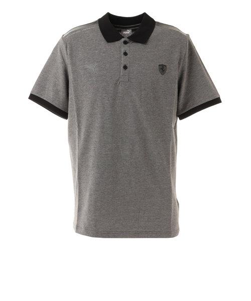 プーマ(PUMA)フェラーリ スタイル 2トーン ポロシャツ 599878 01 GRY