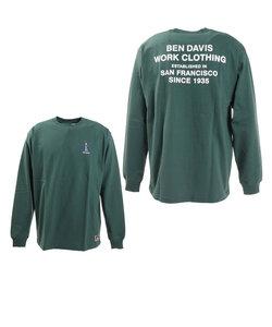 ベンデイビス(BEN DAVIS)ミニゴリラ刺繍長袖Tシャツ 1380018-GRN