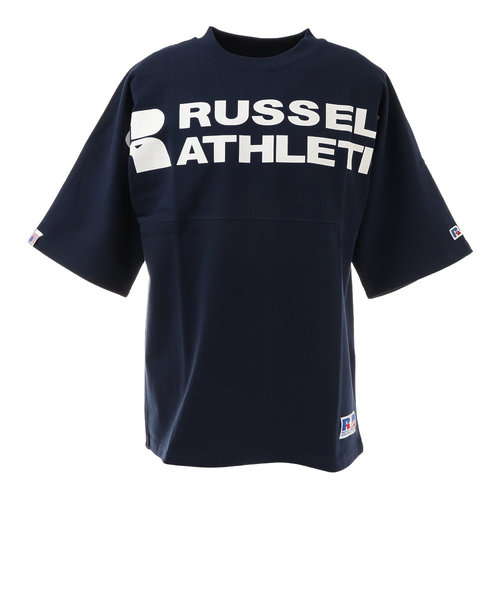 ラッセル(RUSSELL)プロコットン USA 半袖Tシャツ FRロゴ RBM21S0010 NVY ヘビーウェイト