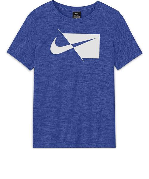 ナイキ(NIKE)ジュニア DRI-FIT ハイブリット 半袖 Tシャツ DA0282-480