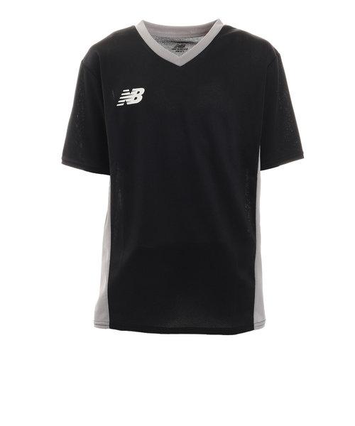 ニューバランス(new balance)サッカー ウェア 半袖 ジュニア Tシャツ プラクティスシャツ JJTF1018BK フットサルウェア