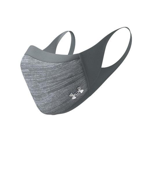 アンダーアーマー(UNDER ARMOUR)スポーツマスク 接触冷感 UVカット 洗えるマスク グレー 1368010 013
