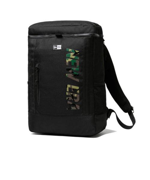 ニューエラ(NEW ERA)リュック ボックスパック ミディアム 25L ブラック×ウッドランドカモ バックパック 12674099