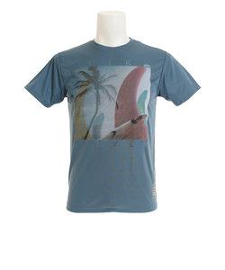 クイックシルバー(Quiksilver)ラッシュガード メンズ BOARD BOOTY フォトプリント サーフ半袖Tシャツ QLY181010DBL