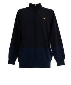 ライルアンドスコット(LYLE&SCOTT)ゴルフウエア メンズ 長袖ハイネックセーター LSM-9C-AB04-BLACK