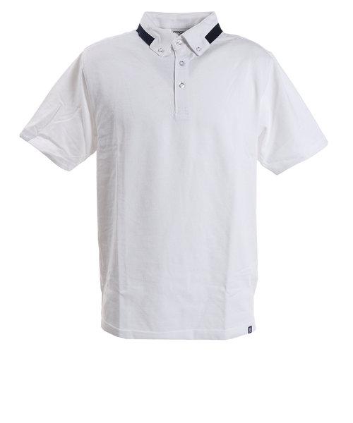 ピージー(PG)ゴルフウエア メンズ TCエリデザインポロシャツ PGLS-2006 WHT