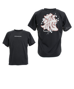 ピージー(PG)ドライプラス 漢字Tシャツ 751PG0TF8329 BLK