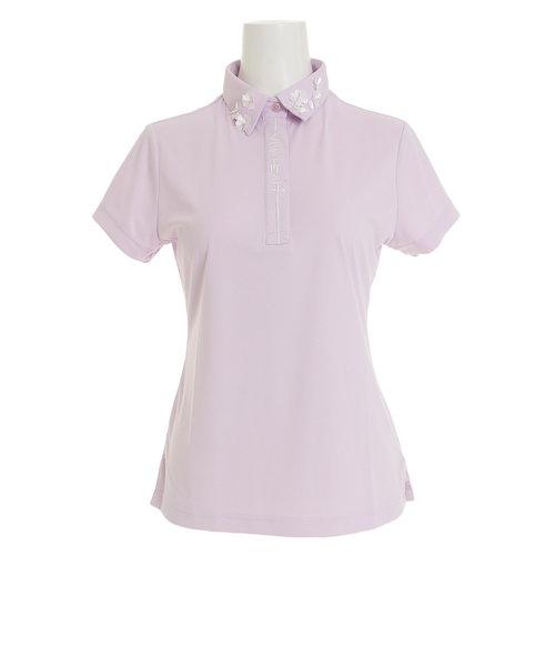 ビバハート(VIVA HEART)ゴルフウエア ポロシャツ レディース 半袖ポロシャツ 花衿シャツ 012-27341-071 オンライン価格