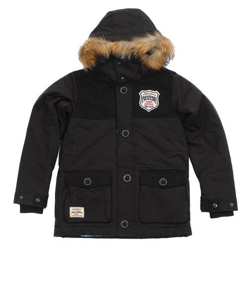 レセーダ(RESEEDA)スノーウェア キッズ ジュニア PADDING ジャケット REJ78502 009BLK 雪遊び ウェア