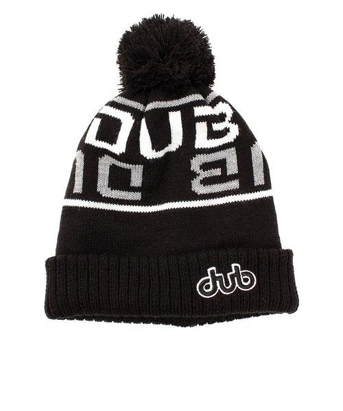 ダブ(dub)スキー スノーボード ニット帽 メンズ ロゴ ポンポン ニットキャップ 8962 BLK