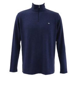 フィドラ(FIDRA)ゴルフ シャツ メンズ リブハーフジップシャツH9 FD5GTG53 NVY