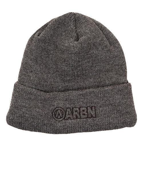 エアボーン(ARBN)スキー スノーボード ニット帽 メンズ ロゴ ビーニー ニットキャップ ABB9132 GRY