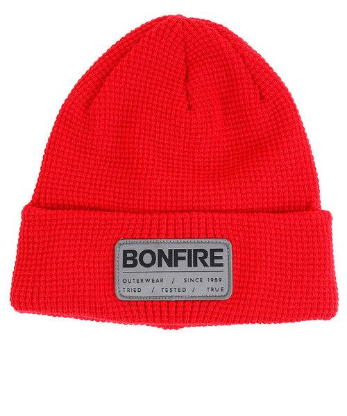 ボンファイア(Bonfire)スキー スノーボード ニット帽 メンズ ニットキャップ ANGLE BEANIE RED