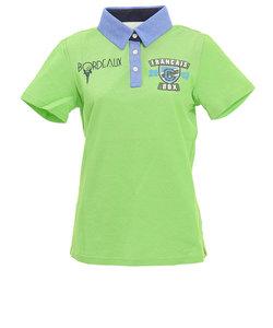クランク(CLUNK)ゴルフウェア レディース ボルドーアイコン半袖ポロシャツ CL57UG23 GRN