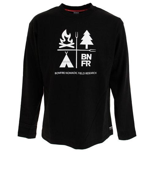 ボンファイア(Bonfire)Tシャツ メンズ 長袖 NATURE 50BNF10FMP2069 BLK