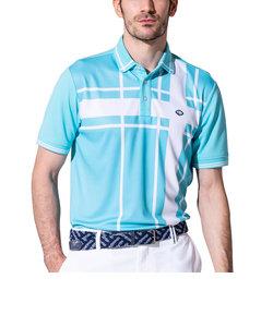 フィドラ(FIDRA)ゴルフ ポロシャツ メンズ ブロックポロシャツ FD5HTG04 SAX