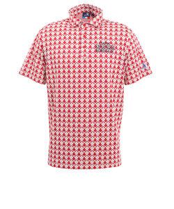 クランク(CLUNK)ジャガードポロシャツ CL5HTG02 RED