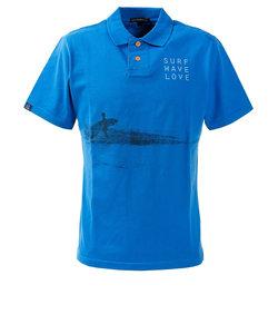 ROSASENポロシャツ メンズ U-SKEコラボ フォトプリントポロシャツ 044-22445-096