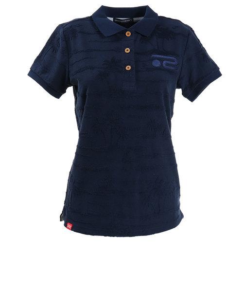 ROSASENポロシャツ レディース パイルジャカードポロシャツ 045-22444-098