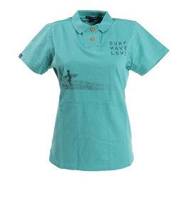 ROSASENポロシャツ レディース U-SKEコラボ フォトプリント半袖ポロシャツ 045-22446-022