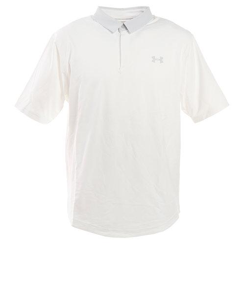 アンダーアーマー(UNDER ARMOUR)ゴルフ ポロシャツ メンズ アイソチル ポロシャツ 1350037 WHT/WHT/HGY GO