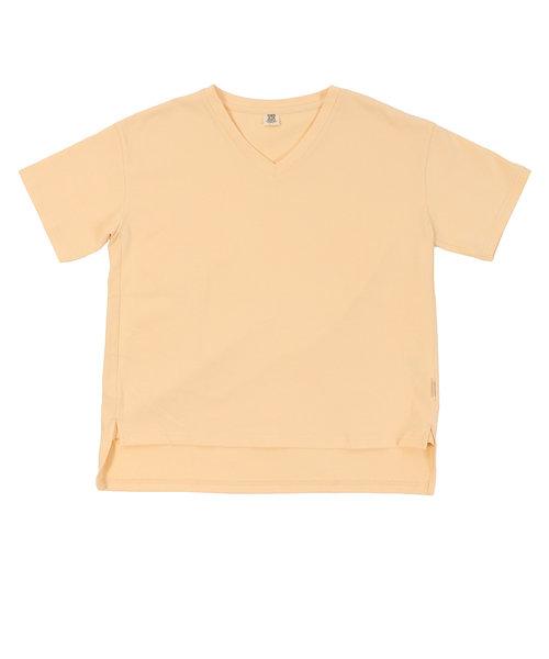 パワー・トゥ・ザ・ピープル(POWER TO THE PEOPLE)トルファンオーガニックコットン VネックTシャツ 0512511-43 YEL アウトドア…