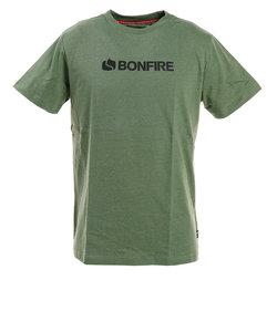 ボンファイア(Bonfire)Tシャツ ロゴ 半袖 50BNF0SCD2087 GRN
