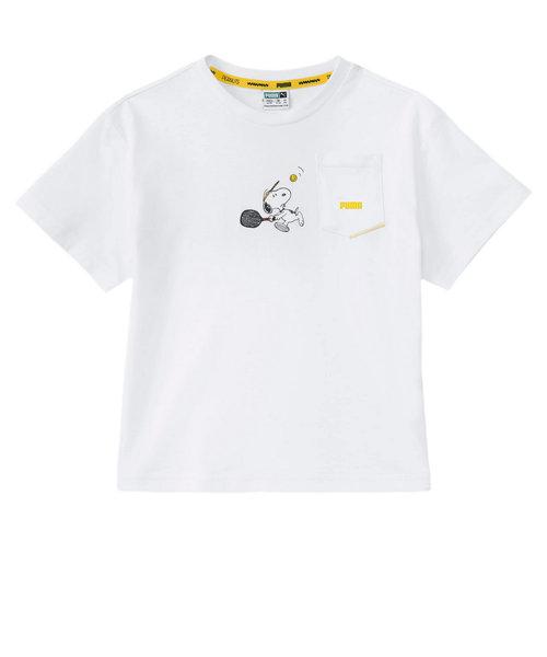 プーマ(PUMA)PUMA×PEANUTS キッズ ガールズ Tシャツ 半袖 599458 02 WHT