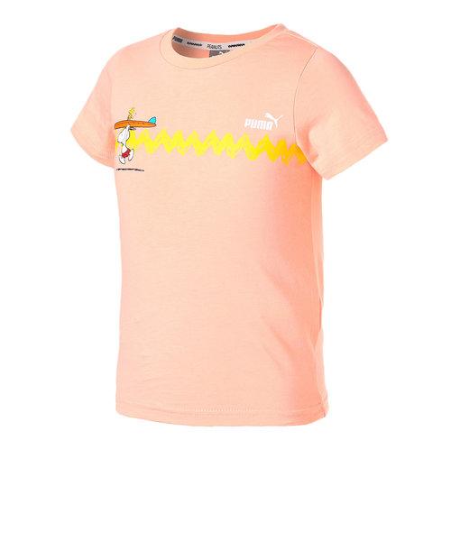プーマ(PUMA)PUMA×PEANUTS キッズ グラフィックTシャツ 599463 26 SPNK 半袖