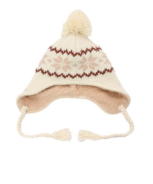 ベスプ(VESP)ニット帽 キッズ スキー ジュニア PEANUTS SNOOPY SNOW BONBON EAR COVER VSJB1003OW 雪遊び