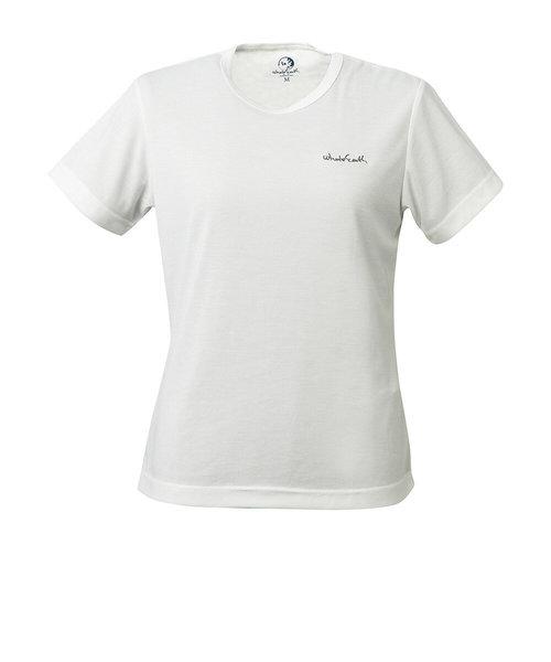 Whole Earthtシャツ 半袖 WOLOGO MESH TEE WE27HA26ホワイト