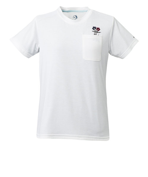 Whole Earthtシャツ 半袖 WOGENTIAN POCKET TEE WE27HA29ホワイト