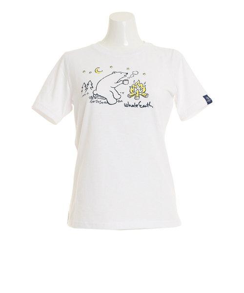 Whole EarthBEAR tシャツ 半袖 WE21HA15WHT