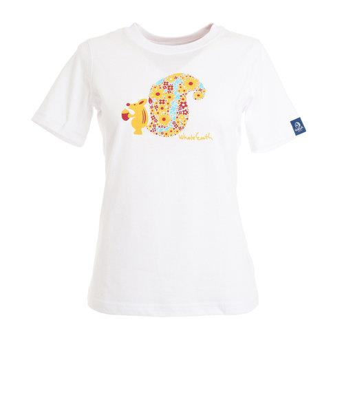 Whole EarthSQUIRREL tシャツ 半袖 WE21HA18WHT